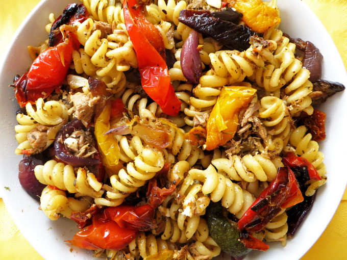 Mediterranean Tuna and Roast Pepper Fusilli | Olive Tree Kitchen