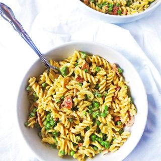 Creamy Bacon And Pea Pasta