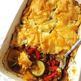 Mediterranean Filo Pie