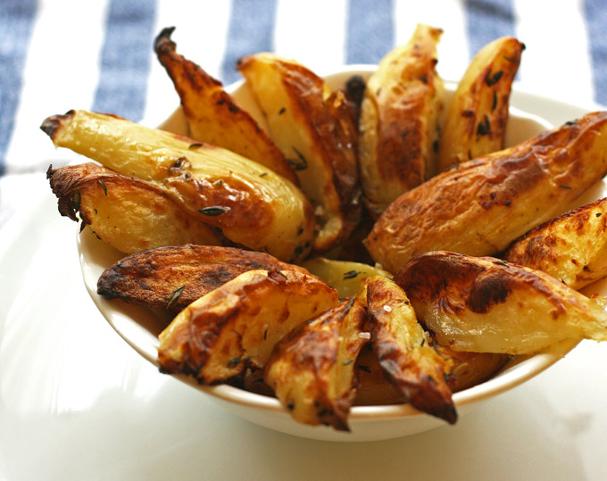 Lemon and Thyme Potato Wedges