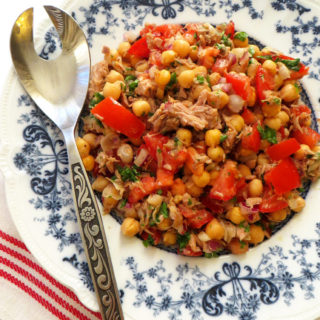 Tuna, Chickpea and Tomato Salad