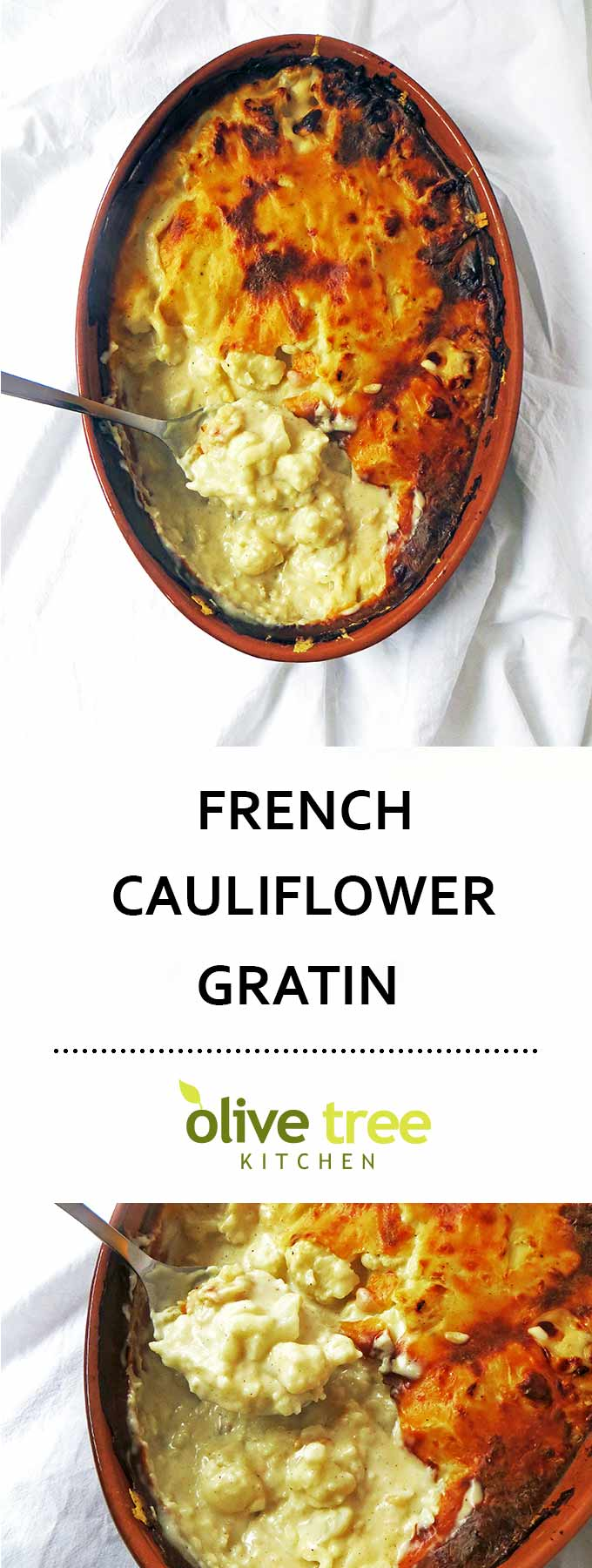 An authentic French Cauliflower Gratin recipe with a deliciously creamy béchamel sauce. An indulgent side dish for a perfect winter meal!