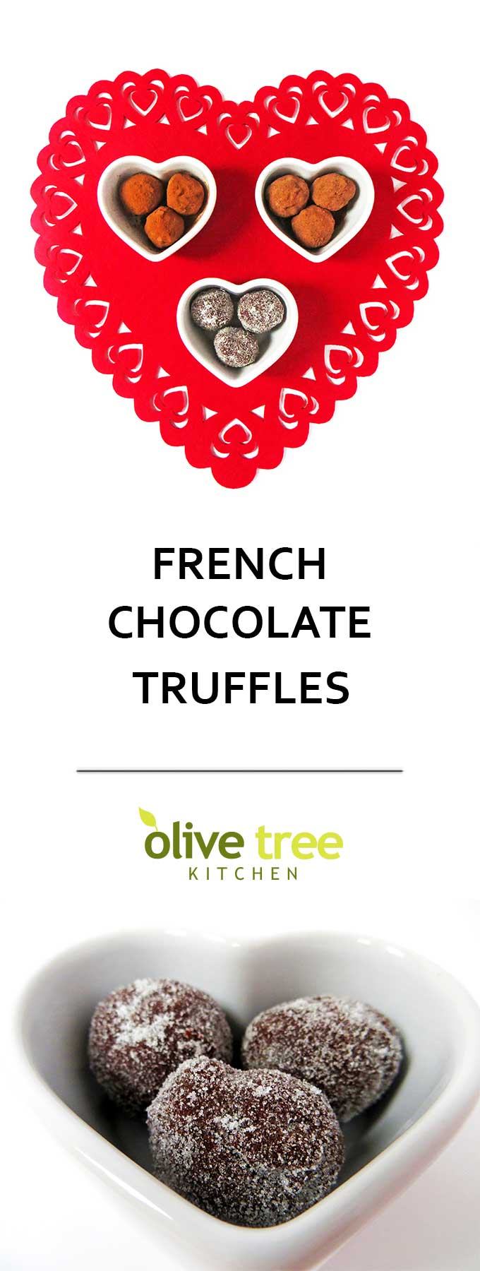 French Chocolate Truffles: rich, buttery and oh so chocolatey, these easy chocolate truffles are an authentic French recipe and perfect for a romantic Valentine's Day treat!